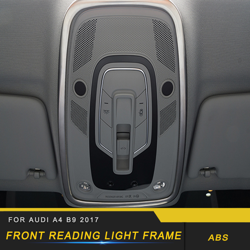 For Audi A4 A5 S4 S5 B9 2017 2018 Car Front Reading Light Lamp Panel Cover Trim Frame Sticker Chrome Interior Accessory