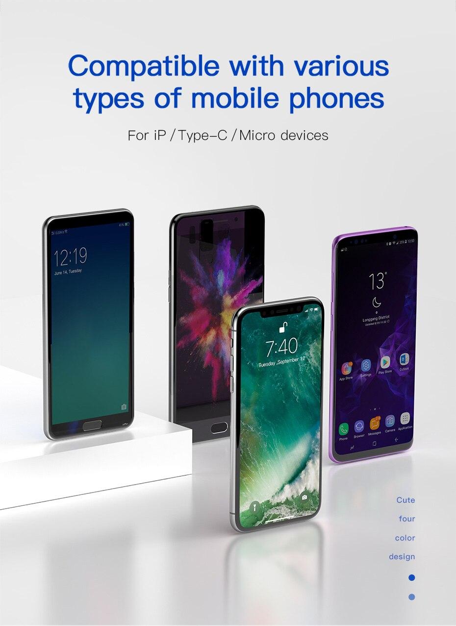 Cabos flexíveis de celular