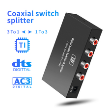Converter Audio-Splitter AYINO with IR Remote-Control AC3 3X1 Extender Switcher DTS Bi-Directional