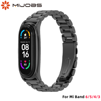 Cinturino per Mi Band 6 Smart Bracelet Metal Opaska per Mi Band 5 4 cinturino per Xiaomi Mi Band 3 Miband 6 Correa Xiomi Band Wristband