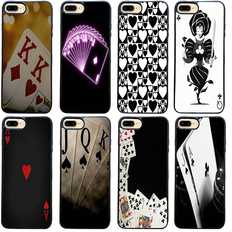 Poker Wallpaper For Iphone 8 7 6 6s Plus X Xr Xs 11 Pro Max 5s 5 Se 4 4s Shell Cell Phone Case Pc Hard Plastic Cover Phone Case Covers Aliexpress
