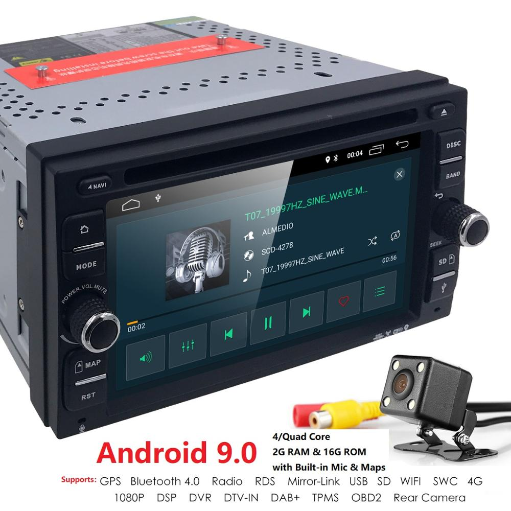 Two Din Android9.0 Car DVD Player Car Stereo Radio GPS Wifi OBD2 DAB TV Bluetooth Navi Car Multimedia Player for Universal audio image