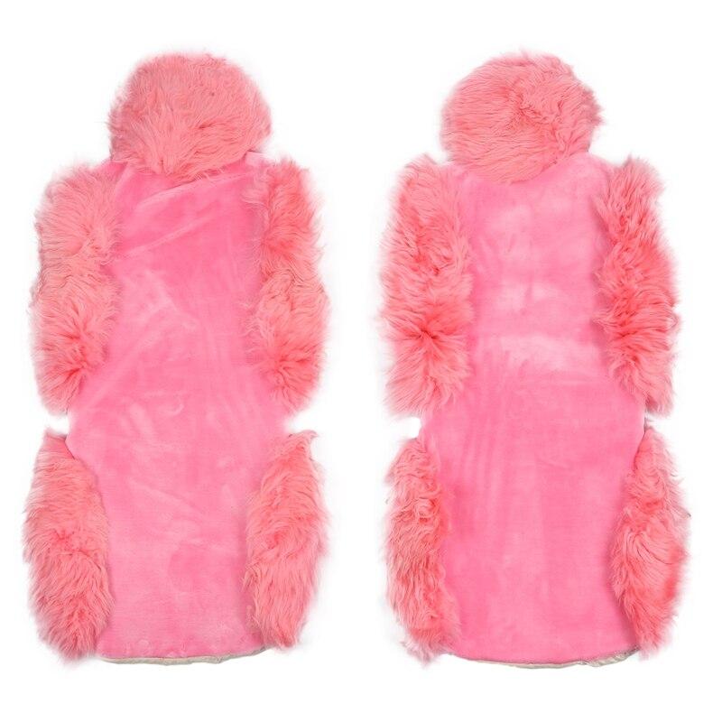 Шерстяное покрытие для автомобильных сидений, зимняя теплая подушка для сидений автомобиля, натуральный мех, Австралийская овчина, авточех...