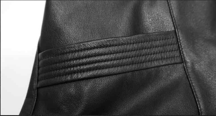 Heren Echte Koe Lederen Jassen Lente Auutmn Hooded Windbreakers Plus Size 6XL Casacas Para Hombre F1726 MF127