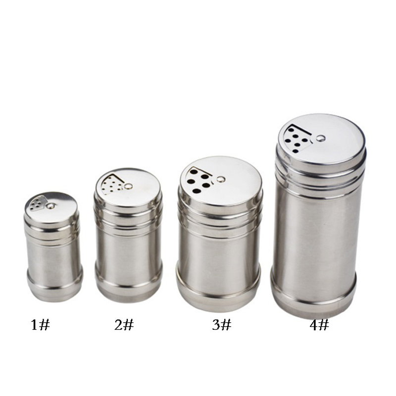 304 nerezová sůl pepřenka třepačka sada bez zápachu koření Cruet s stojan koření krabice vaření koření láhev nástroj
