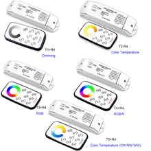 DC12V-24V 2.4G RF Wireless Remote Control LED Controller Dimming/CCT/RGB/RGBW/CW-NW-WW Dimmer For LED Strip Light Lamp