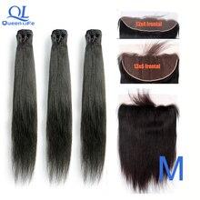 Queenlife 3 пряди прямые пряди для волос 8-30 34 36 38 дюймов Remy бразильские человеческие волосы