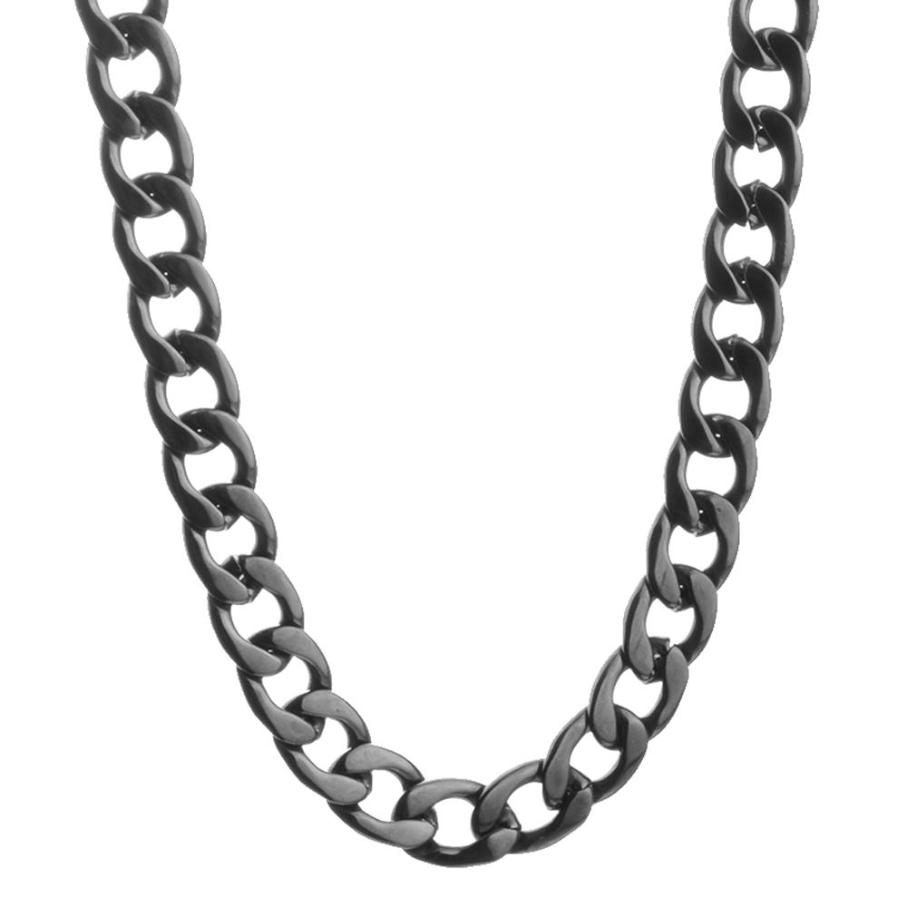 Granny Chic 316L Stainless Steel NK Chains Necklace for Men Black Mens Necklace Curb Cuban Jewelry Gifts 9 11 13 15 19mm in Chain Necklaces from Jewelry Accessories