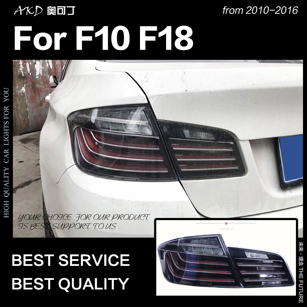 Car Styling For BMW F10 Tail Lights 2010-2016 F18 Tail Lamp 525i 530i 520i LED Tail Light DRL Brake Reverse Auto Accessories