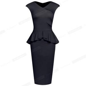 Image 2 - Nice pour toujours, tenue de soirée élégante, moulante, couleur unie, pour le bureau, pour femmes, B580