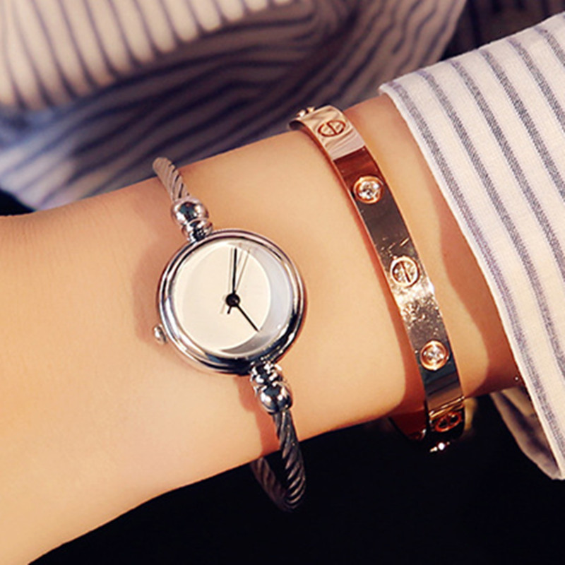 Image 5 - Luxury Women Watch Bracelet Simple Fashion Female Clock Simple Quartz Wrist Watch Women relogio feminino reloj mujer 2019-in Women's Watches from Watches