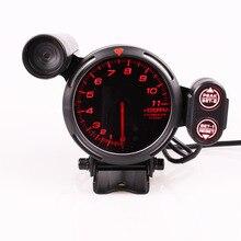 """טשר BF Tachometer 3.75 אינץ 7 צבעים 0 11000 סל""""ד מד עם צעד מנוע רכב Shift אור עבור רכב מד"""