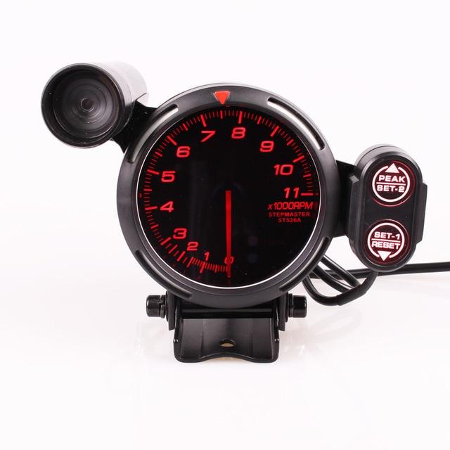 مقياس سرعة الدوران Difi BF 3.75 بوصة 7 ألوان قياس 0 11000 دورة في الدقيقة مع محرك متدرج وضوء تحول السيارة لقياس السيارة