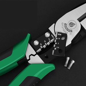Image 3 - Goufu Stripper 7inch Wire Cutter Long Nose Plier Diagonal Plier Cr V Steel Multifunction Pliers Handtools