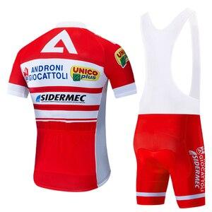 Image 2 - Equipe 2020 vermelho androni ciclismo jérsei 20d calções de bicicleta conjunto ropa ciclismo men verão secagem rápida pro roupas maillot