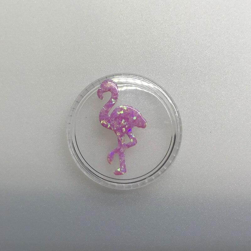 Хилл-сан Лотос 30 шт./лот 12,2*23,9 мм розовый цвет синтетический опал в форме Фламинго кулон для ожерелья - Цвет: OP10