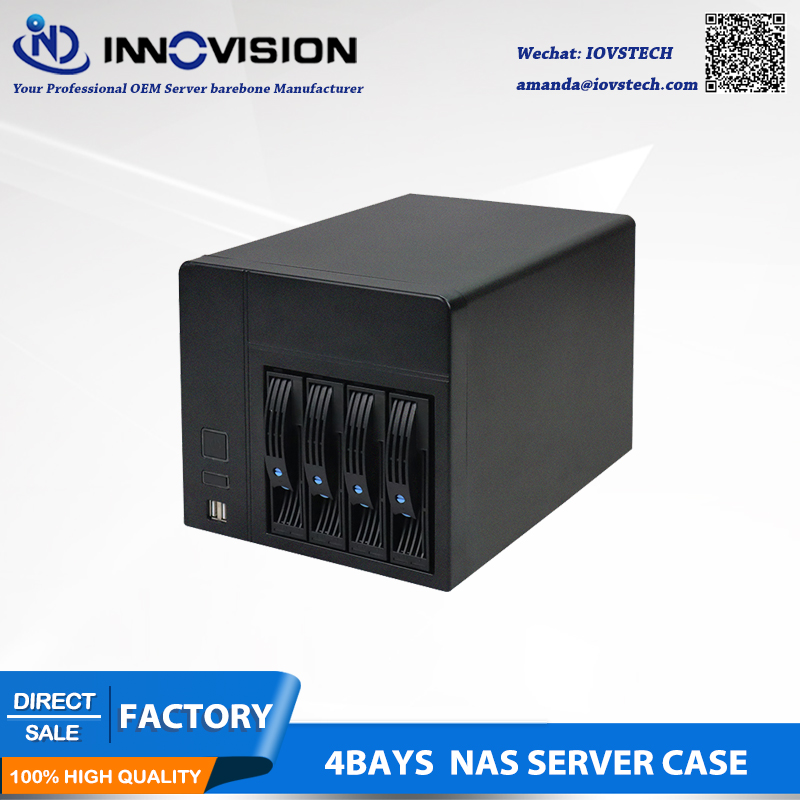 2019 Hot-swap NAS Storage Server Chassis IPFS Miner 4 Drive Bays 6GB Sata Backplane Support Mini-itx Motherboard