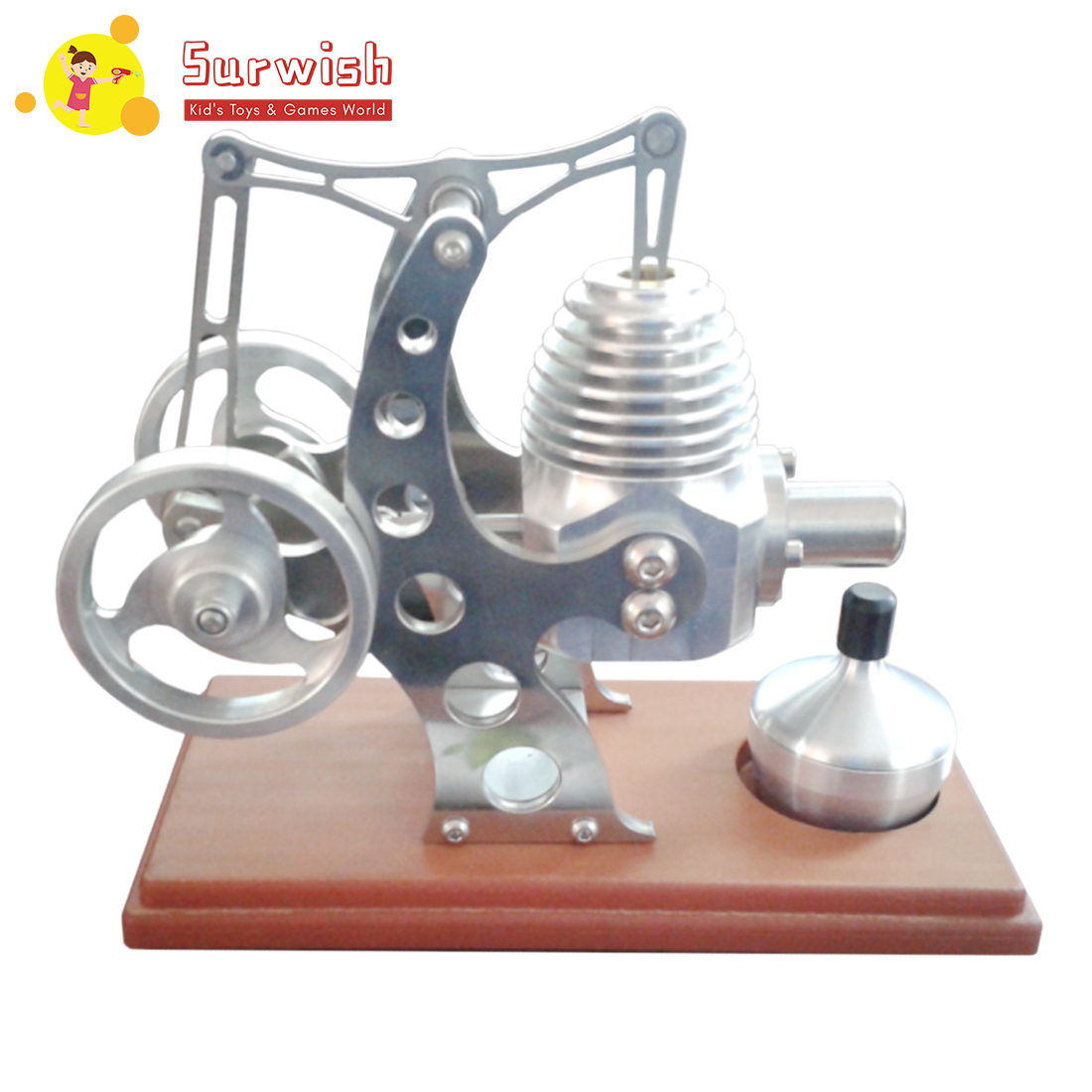 Wooden Floor All Metal Balance Stirling Engine Model Education Toy