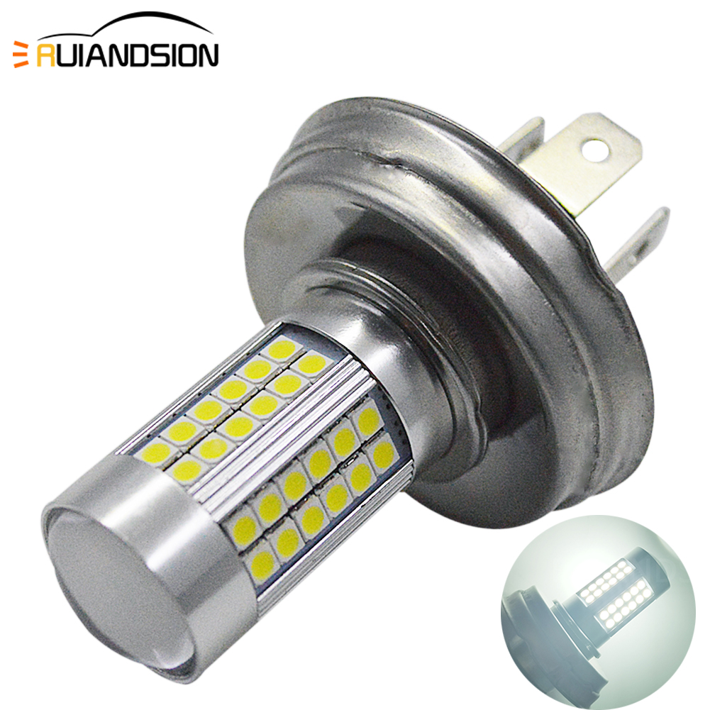 1pc DC 6V 10-30V P45T 3030 LED Motorcycle Headlight Bulb 1200LM 6500K Moto Bixenon hi lo beam Light Scooter Motobike Head Lamp