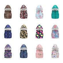 2019 Winter Vest For Children Cartoon Dinosaur Print Sleeveless Jacket Keep Warm Kids The Boy Baby Girls