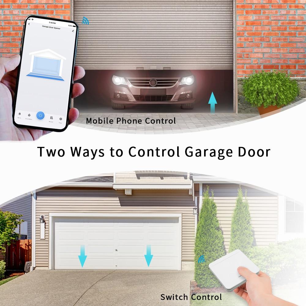 Tuya Smart Life Garage Door Sensor Controller Opener Wifi Rf Switch Smart Home Google Home Amazon Alexa Echo App Alert No Hub