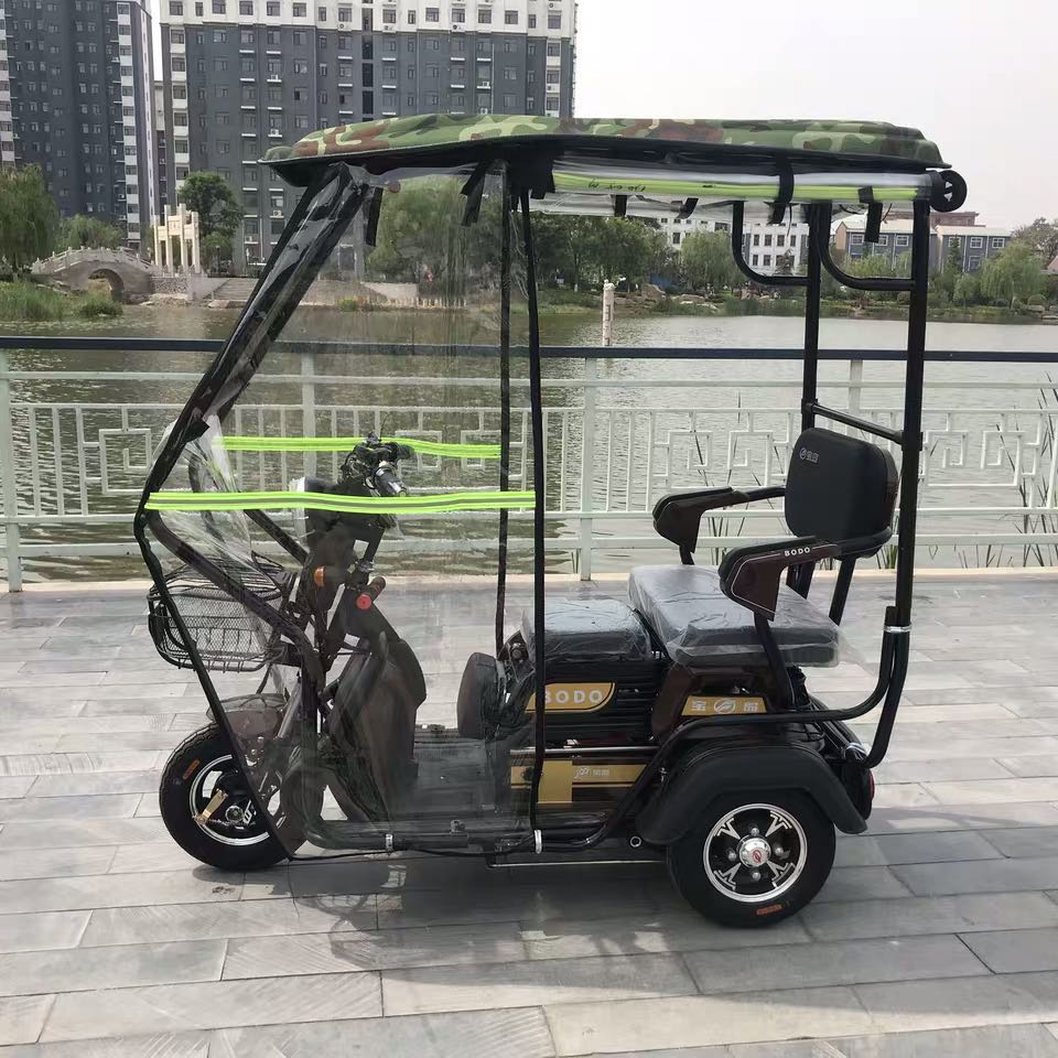600W/800W Lithium Battery 48V/60V 20ah Electric Scooter three Seats Three Round Wheel for Old Elderly Disabled Scooter