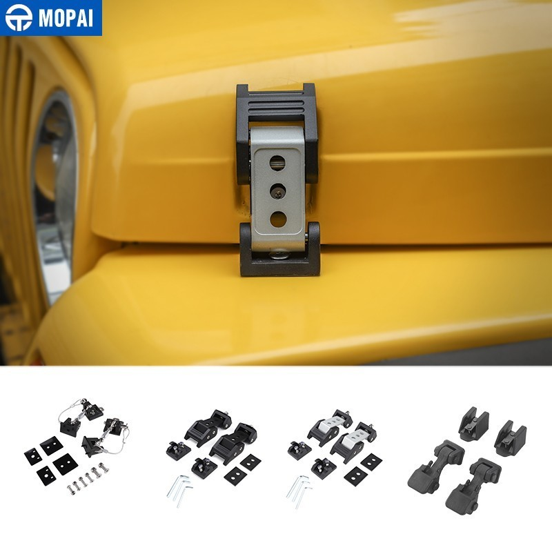 【2Pcs】 Black ABS Hood Cover Latches Catch Set Kit for 1997-2006 Jeep Wrangler TJ Includes Both Hood Lock Lock 3