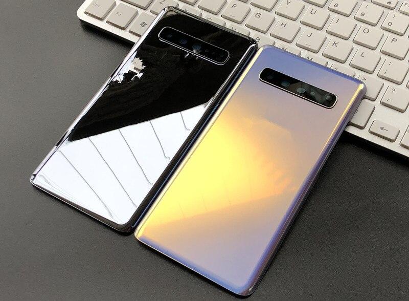 Задняя крышка для Samsung Galaxy S10 5G G977, задняя крышка батарейного отсека и объектив с логотипом