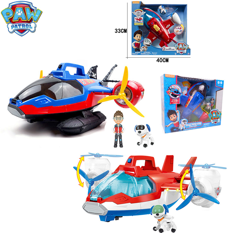 Paw Patrol Plane With Lights And Sounds Puppy Patrol Robot Dog Air Patroller Rescue Plane Birthday Gifts Toys For Children 2D87