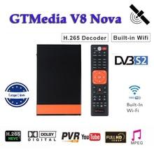 Receptor Full HD 1080P Gtmedia V8 Nova DVB-S2 Satellite tv receiver H.265 built-in WIFI for 1 Year 7 Cline Cccam server hd цена