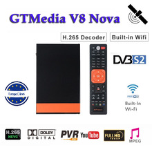 Receptor Full HD 1080P Gtmedia V8 Nova DVB-S2 Satellite tv receiver H.265 built-in WIFI for 1 Year 7 Cline Cccam server hd недорого