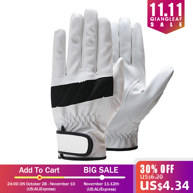 QIANGLEAF Brand Work Gloves  Goat Skin High Quality Hot Sale White Black Protective Glove 1907