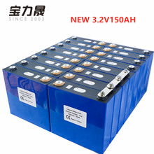 2019 NEW 16PCS 3.2V 150Ah Lithium Iron Phosphate Cell lifepo4 battery  solar 24V300AH 48V150Ah cells not 120Ah EU US TAX FREE lithium iron phosphate lifepo4 rechargeable battery cells 3 2v 90a 6 mm screw for battery pack assembly car battery