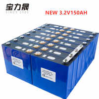 NEW 16PCS 3.2V 135AH 150Ah Lithium Iron Phosphate Cell lifepo4 battery solar 24V300AH 48V150Ah cells not 120Ah EU US TAX FREE