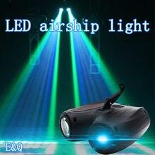 Colorido 20w rgbw padrão led efeito de palco iluminação 128/64led cabeça dupla dirigível lâmpada do projetor luz dj discoteca luzes festa