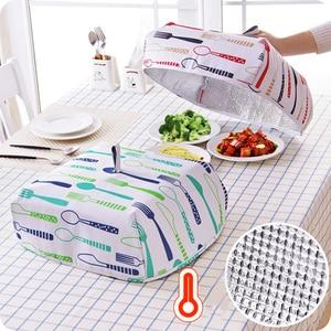 Складная Изолированная Крышка для еды большая емкость многоразовая посуда сохранение тепла еда s фрукты пылезащитный чехол Kichen аксессуары
