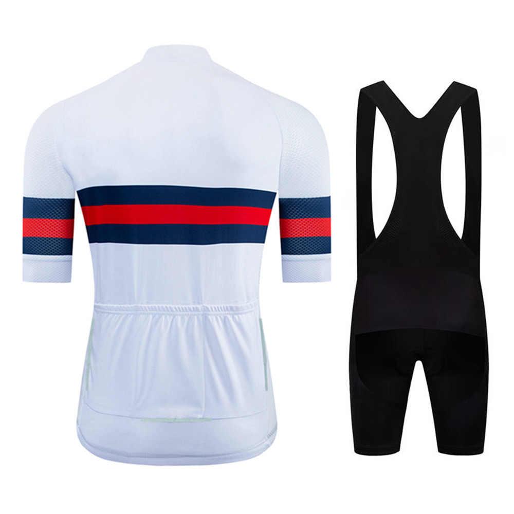 NDLSS dżersej męski rowerowy 2020 Pro Team letnia odzież rowerowa szybkoschnący zestaw sporty wyścigowe rower Mtb koszulki rowerowe jednolite