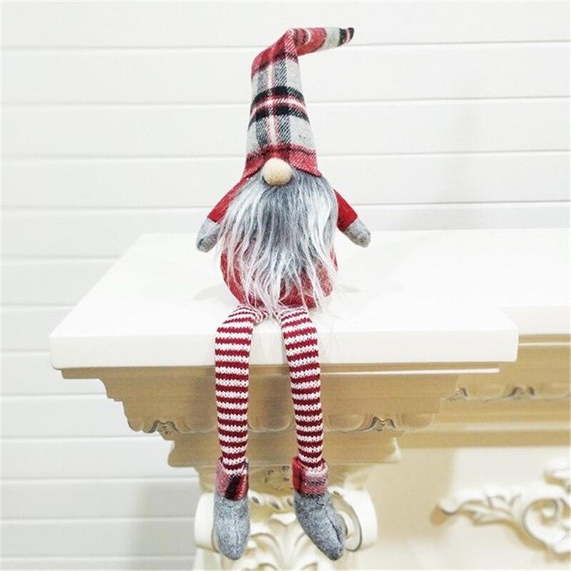 INTEGRITY 1 шт., милое Рождественское украшение, длинные сидящие ноги, без лица, эльф, куклы, украшения для дома, 2019, новогодний подарок для детей