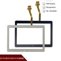 10.1 inch inch polegadas para samsung galaxy tab 2 GT-P5100 p5100 p5110 p5113 n8000 substituição do painel de vidro da tela toque frete grátis