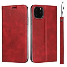 LUCKBUY For iPhone 11 Pro Max Protective pu leather flip case with lanyard Magnetic Closure for X XS MAX