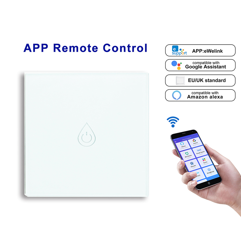WiFi Smart Boiler Switch Water Heater Voice APP Remote Control Timing EU Touch Panel Works With For Google Home Alexa Echo