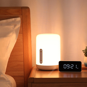 Image 3 - Xiao mi mi jia lampe de chevet 2 lumière intelligente commande vocale interrupteur tactile mi maison app Led ampoule pour Apple Homekit Siri & xiaoai horloge