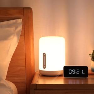 Image 3 - שיאו mi mi jia מנורה שליד המיטה 2 חכם אור קול בקרת מגע מתג mi בית app Led הנורה עבור אפל homekit Siri & xiaoai שעון