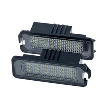2Pcs 12V Led Number License Plate Light Lamps For Golf 4 5 6 7 Car License Plate Lights Exterior Accessories
