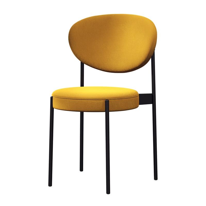 Nordic Dining Chair Gold Metal Chair Cheap Modern Minimalist Restaurant Chairs Living Room Furniture Sillas Comedor Cadeira