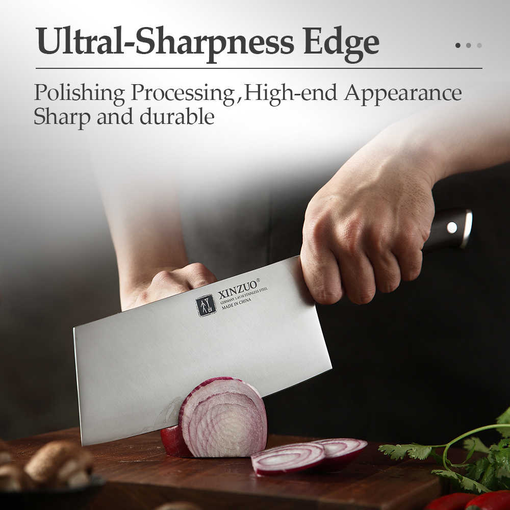 XINZUO 7'' zoll Hackmesser Fleisch Messer Deutsch 1,4116 Edelstahl mit Ebenholz Griff Küche Chef Messer Marke Kochen Werkzeuge