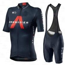 INEOS granadier-Conjunto de Jersey de ciclista para mujer, transpirable traje deportivo, ropa para bicicleta de montaña, verano, Culote de ciclista
