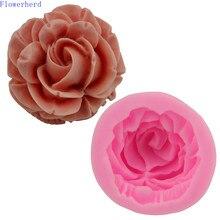 Soap-Mold Cake-Mould Baking-Tools Chocolate Rose-Flower Fondant Handmade 3D Cake-Decoration