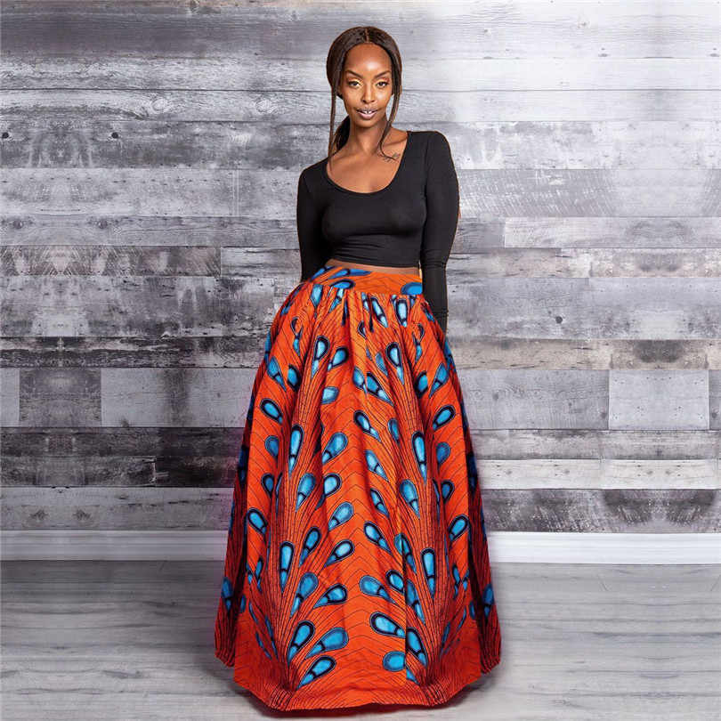 Afrika giyim gonne africane kadın etek geleneksel giyim Ankara baskı Dashiki uzun etekler