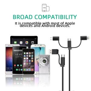 Image 2 - 5Pcs 5A 4 in 1 USB Kabel für Handy Micro USB Typ C Ladegerät Kabel für iPhone 7 XR XS 11Pro Huawei Schnelle Daten Ladekabel
